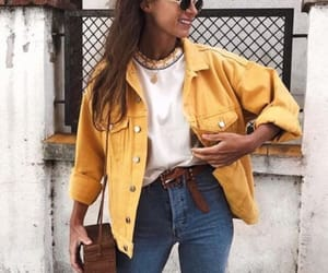 brown bag, fashion, and jeans image