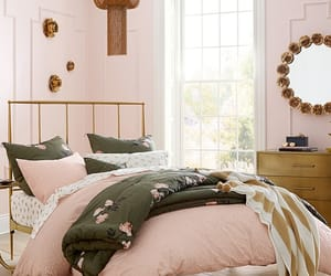 bedding, home decor, and pottery barn image