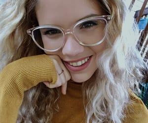 autumn, blue, and eyeglasses image