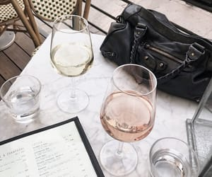 bag, Balenciaga, and champagne image