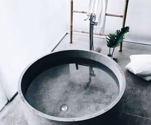 bathroom, interior, and grey image