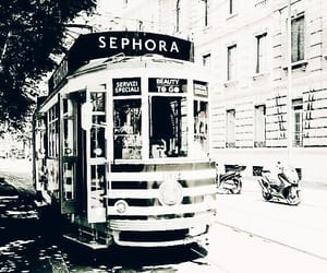 aesthetic, bus, and sephora image