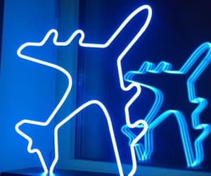 blue, colors, and neon image