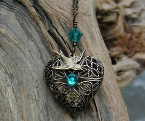 heart, locket, and vintage image