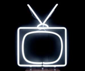 neon, tv, and light image