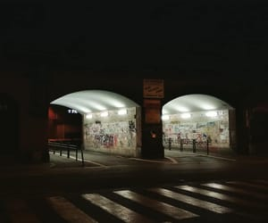 graffiti, night, and street image