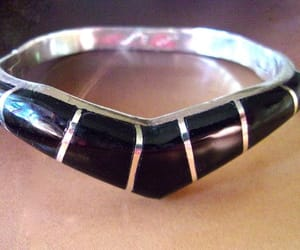 vintage bracelet, etsy, and sterling silver cuff image