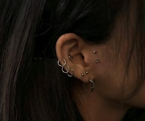 piercing, aesthetic, and earrings image
