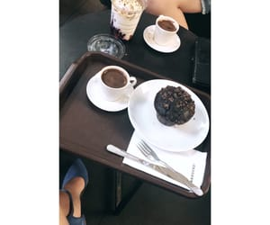 coffe, muffin, and girly image
