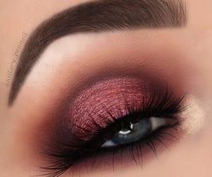brown, cranberry, and makeup image