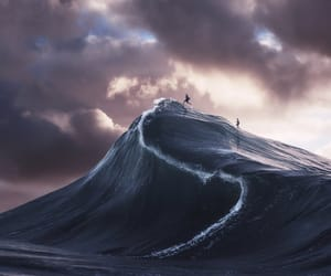 dunes, ocean, and waves image