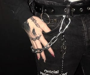 alternative, black, and chains image