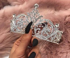 black, crown, and nail image