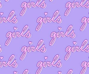 girls, patterns, and purple image