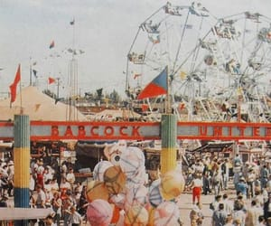 1950s, amusement park, and balloons image