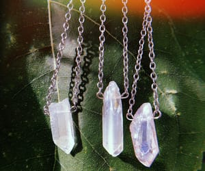 crystal, crystal necklace, and quartz image