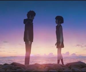 anime, your name, and taki image