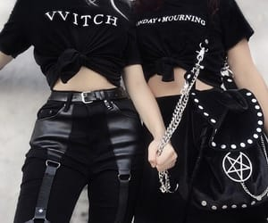 alternative, fashion, and goth girl image