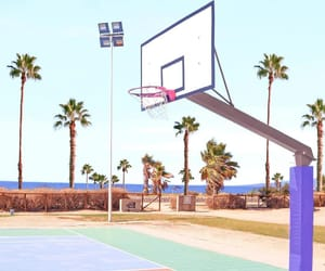 Basketball, court, and pastel image
