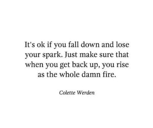 quotes, Spark, and fire image