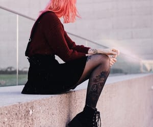 alternative, pink hair, and style image