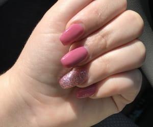 nails, sun, and glitter image
