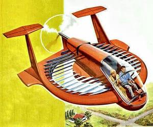 1960s, Retro Futurism, and vintage magazine image