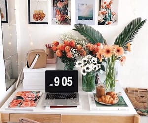 decor, flowers, and house image