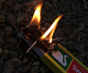 asthmatic, flames, and matches image