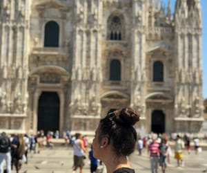 girl, italy, and duomo image