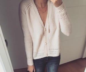 bag, cardigan, and sweater image
