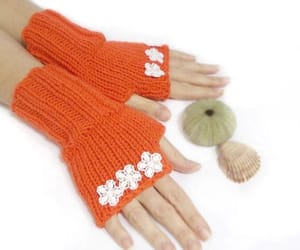 crochet, gloves, and handmade image