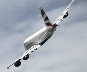british airways, plane, and vehicles image