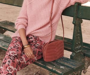 floral, pink, and quilted bag image