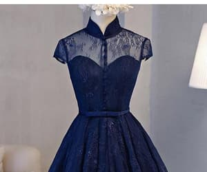 navy blue prom dresses, homecoming dresses a-line, and homecoming dresses lace image