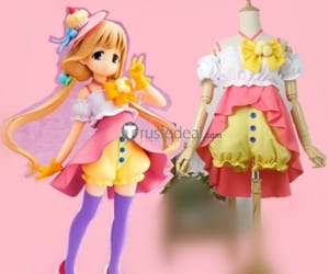 anzu futaba pink dress, cute anime dress, and anzu futaba candy island image