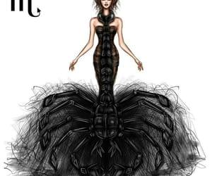 scorpio, zodiac, and art image