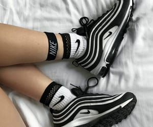 brands, nike, and black and white image