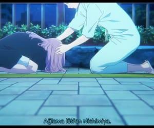 anime girl, anime boy, and sad anime image