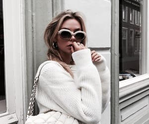 bag, glasses, and outfit image