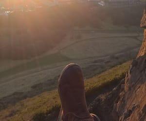 edinburgh, sunset, and arthurs seat image