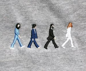 beatles, embroidery, and the beatles image