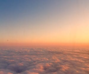 above, airplane, and clouds image
