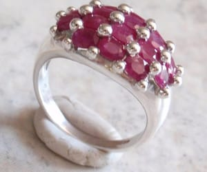 cocktail ring, etsy, and ruby ring image