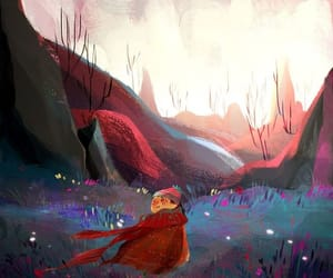 artist, scenery, and the little drifter image