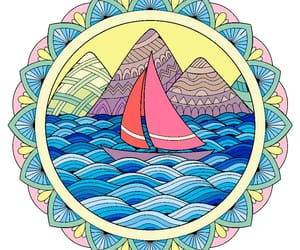 art, bateau, and coloring image