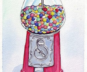 art, candy, and gumballs image