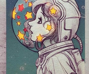 stars, drawing, and space image