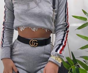 belt, gucci, and sweatshirt image