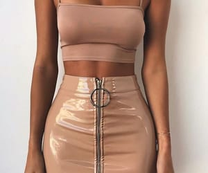 fashion, skirt, and crop top image